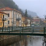 Old houses in misty Florina, between the river and the mountain, the past and the future